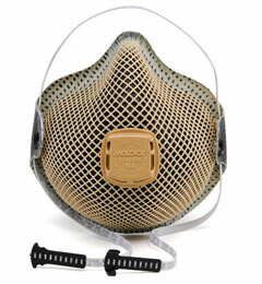 Moldex D2740R95 Special Ops Disposable Respirator with Cloth HandyStrap + Ventex Valve Med/Lg Only (R95) (Case of 100 Masks)