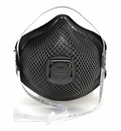 Moldex M2700N95 Special Ops Disposable Respirator with Cloth HandyStrap + Ventex Valve (N95) (Case of 100 Masks)