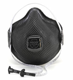 Moldex M2800N95 Special Ops Plus Nuisance Organic Vapors Disposable Respirator with Cloth HandyStrap + Ventex Valve (N95+OV) (Case of 100 Masks)