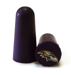 NFL Ear Plugs - Baltimore Ravens Foam Ear Plugs with NFL Team Colors and Imprints (NRR 32) (6 Pairs)