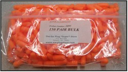 Super 31 Ear Plugs (NRR 31) (Bag of 150 Unwrapped Pairs)