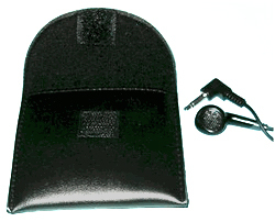Padded earbud Carry Case With Velcro Flap Closure (One Case)