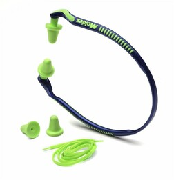 Moldex Jazz Band 6506 Banded Hearing Protector (NRR 25) (1 Band, 2 Pairs of tips and a Neck Cord)