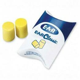 E-A-R Classic PVC Foam Ear Plugs in Pillow Pack - Average (NRR 29) (Case of 2000 Pairs)