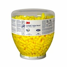 3M E-A-R 391-1004 EarSoft Yellow Neons Dispenser Refill (NRR 33) (Bottle of 500 Pairs)
