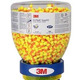 3M E-A-R 391-1254 EarSoft SuperFit UF Foam Earplugs (NRR 33) (Dispenser Bottle of 500 Unwrapped Pairs)