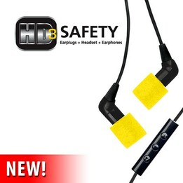 Etymotic HD-3 Safety Earplugs + Headset + Earphones (NRR 27)