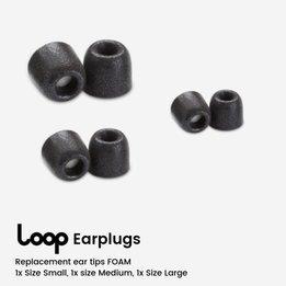 Loop Replacement Foam Ear Tips - 3 Pairs