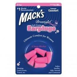 Mack's Dreamgirl Soft Foam Ear Plugs (NRR 30) (3 Pairs)