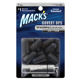 Mack's Shooters Covert Ops Soft Foam Ear Plugs (7 pairs)