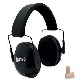 Mack's Shooters Double-Up Ear Muffs (NRR 34) (Earmuffs + Ear Plugs)