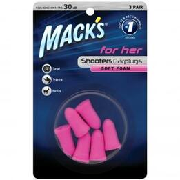Mack's Shooting for Her Foam Earplugs (NRR 30) (3 Pairs)