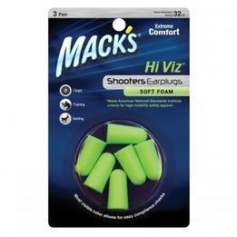 Mack's Shooters Hi Viz Soft Foam Ear Plugs (NRR 32) (3 Pairs)