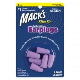 Mack's Slim Fit Smaller Soft Foam Ear Plugs (NRR 29) (3 Pairs)
