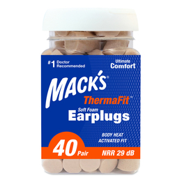 Mack's ThermaFit Soft Foam Ear Plugs (NRR 29) (40 Pair Bottle)