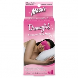 Mack's Dreamgirl Sleep Mask with Dreamgirl Earplugs + Pink Travel Pouch