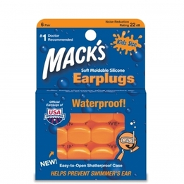 Mack's Kid Size Soft Moldable Silicone Ear Plugs (NRR 22) (Pack of 6 Pairs)