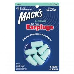 Mack's Original Soft Foam Ear Plugs (NRR 32) (3 Pairs)