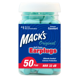 Mack's Original Soft Foam Ear Plugs (NRR 32) (Bottle of 50 Pairs)