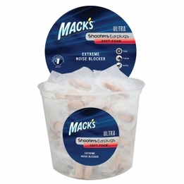 Mack's Ultra Foam Shooting Ear Plugs (NRR 32) (Tub of 100 pairs)