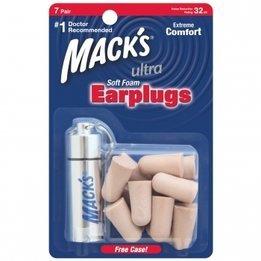 Mack's Ultra Soft Foam Ear Plugs (NRR 32) (7 pairs w/ Aluminum Case)