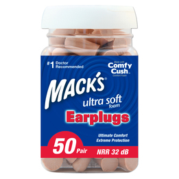 Mack's Ultra Soft Foam Ear Plugs (NRR 32) (Bottle of 50 pairs)