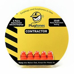 PlugFones Triple Flange Silicone Replacement Tips (5 pairs)
