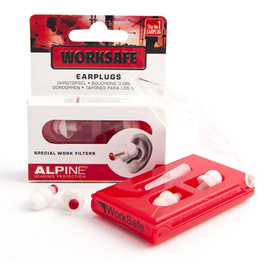 Alpine WorkSafe Reusable Work and Hobby Ear Plugs (NRR 16)