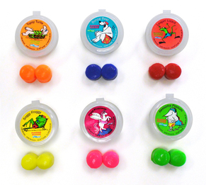 Putty Buddies FLOATING Colorful Soft Moldable Silicone Swimming Ear Plugs for Kids (1 Pair with Case - 7 Colors Available!)