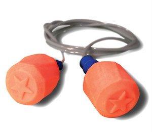 Hearos SoftStar EZ Twist Series 7313 UF No-Roll Foam Ear Plugs - CORDED (NRR 30)