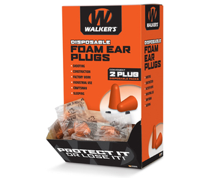 Walker GSM Disposable Foam Ear Plugs (NRR 32) (Box of 200 Pairs)