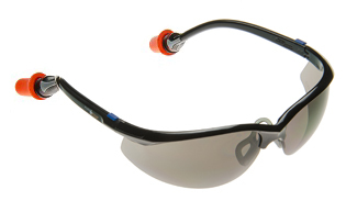 Plugs Safety Glasses with Gray Lens and Durafoam Ear Plugs (NRR 30/SNR 35)