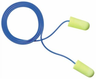 E-A-R EarSoft Yellow Neons UF Foam Ear Plugs Corded - LARGE (NRR 33) (Box of 200 Pairs)