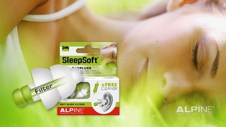 Alpine SleepSoft Reusable Sleeping Ear Plugs - Brand New for 2015