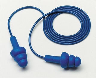 E-A-R UltraFit Metal Detectable Reusable Ear Plugs Corded (NRR 25)