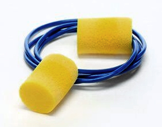 E-A-R Classic Plus PVC Foam Ear Plugs Large/Grande - Corded (NRR 33) (Box of 200 Pairs)