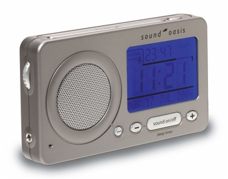 Sound Oasis S-850 Top Quality Travel White Noise Alarm Clock