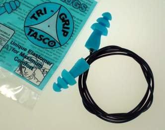 Tasco Tri-Grip® Jr. M-TEK Reusable 100% Metal Detectable Cord w/Metal Insert in Ear Plugs (NRR 27)