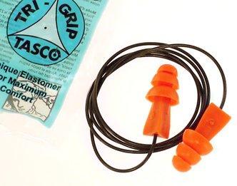 Tasco Tri-Grip® M-TEK Reusable 100% Metal Detectable Cord w/Metal Insert in Ear Plugs Corded (NRR 27) (Case of 400 Pairs)