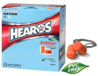 Hearos SoftStar NexGen Series 7311 UF Foam Ear Plugs - CORDED (NRR 30) (Box of 100 Pairs)