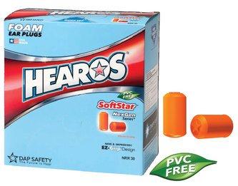 Hearos SoftStar NexGen Series 7320 UF Foam Ear Plugs (NRR 30) (Box of 200 Pairs)