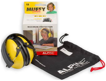 Alpine Muffy Yellow Smiley Face Ear Muffs for Kids (SNR 25)