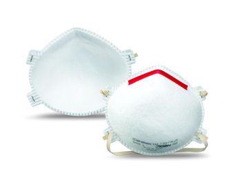 Honeywell 14110387 SAF-T-FIT Plus N1105 N95 Particulate Respirator with nose clip (N95) (Case of 200 Masks)