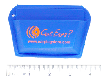 Got Ears? STO Custom Ear Plug and Earphone Pocket Pouch - Large, With Custom Imprint (Minimum Order of 250) (FREE Ground Shipping Included!)
