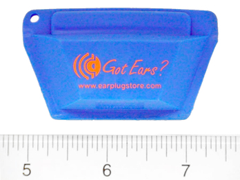 Got Ears? STO Ear Plug Pocket Pouch - Small, With Custom Imprint and Keychain and Earplugs. One Color Hot Stamp Only. (Minimum Order of 250) (FREE Ground Shipping Included!)