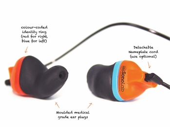 SonoLab V5 Instant Fit Custom Molded Ear Plugs (NRR 28)