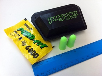 Special Offer Large Size Squeeze-To-Open Ear Plug and Earphone Carry Pouch with JanSport Logo Imprint