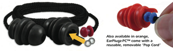 E.A.R. Inc. Ear Plugz-PC Reusable Metal Detectable Ear Plugs (Case of 200 Pairs, Each w/Removable Cord and Case)