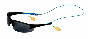 3M Nitrous Protective Eyewear, 11802-00000-20 Corded Control System, Gray Anti-Fog Lenses (Glasses + 1 Pair UltraFit Corded Ear Plugs)