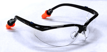 PlugsSafety® Bifocal 2.0 Safety Eyewear with Hearing Protection - DuraFoam™ (NRR 30)